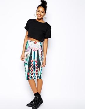 River Island Kaleidoscope Printed Skirt - ASOS