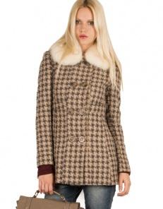 Παλτό με γούνινο γιακά - Toi&Moi