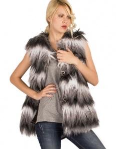 Δίχρωμη γούνα γιλέκο - Toi&Moi