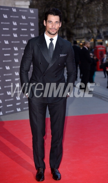 David Gandy attends the preview of The Glamour of Italian Fashion exhibition at the Victoria & Albert Museum on April 1, 2014 in London
