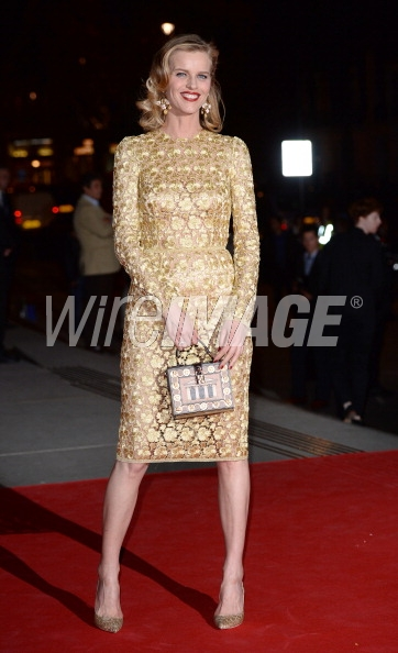 Eva Herzigova attends the preview of The Glamour of Italian Fashion exhibition at the Victoria & Albert Museum on April 1, 2014 in London