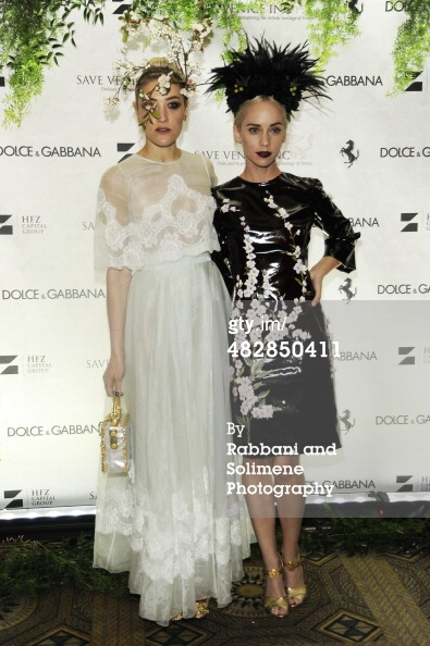 Mia Moretti and Caitlin Moe_Save Venice Enchanted Garden Ball_April 4 2014