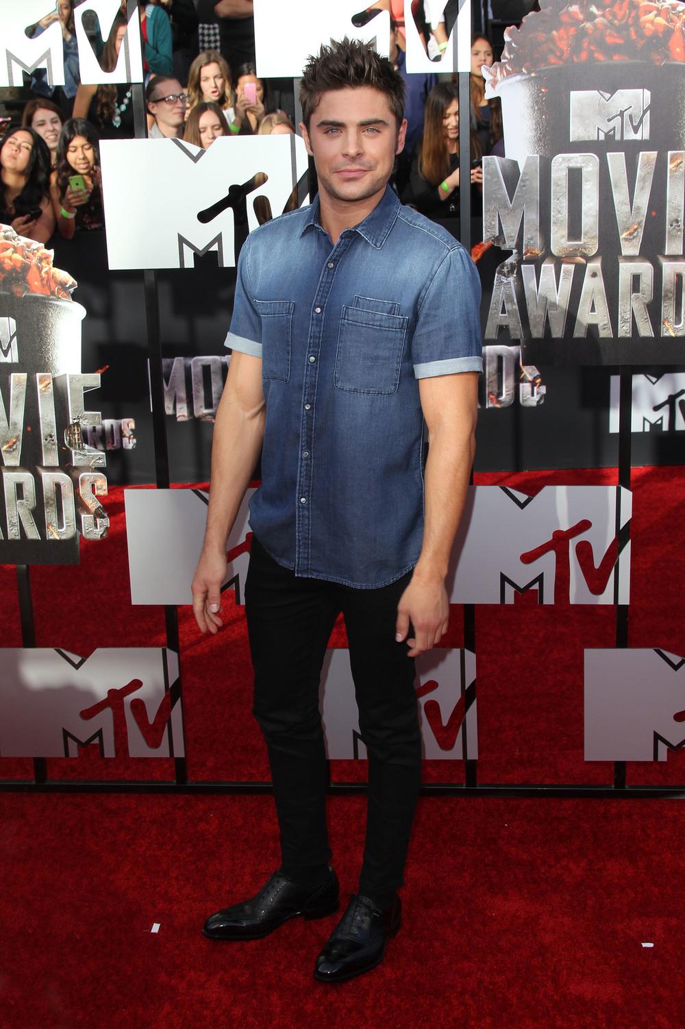Zac Efron - 2014 MTV Movie Awards LA - Splashnews
