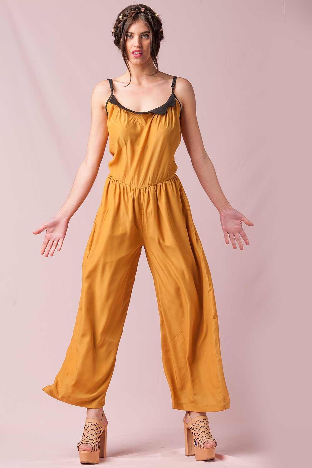 PEPALOVES - JUMPSUIT WITH CAMI STRAP