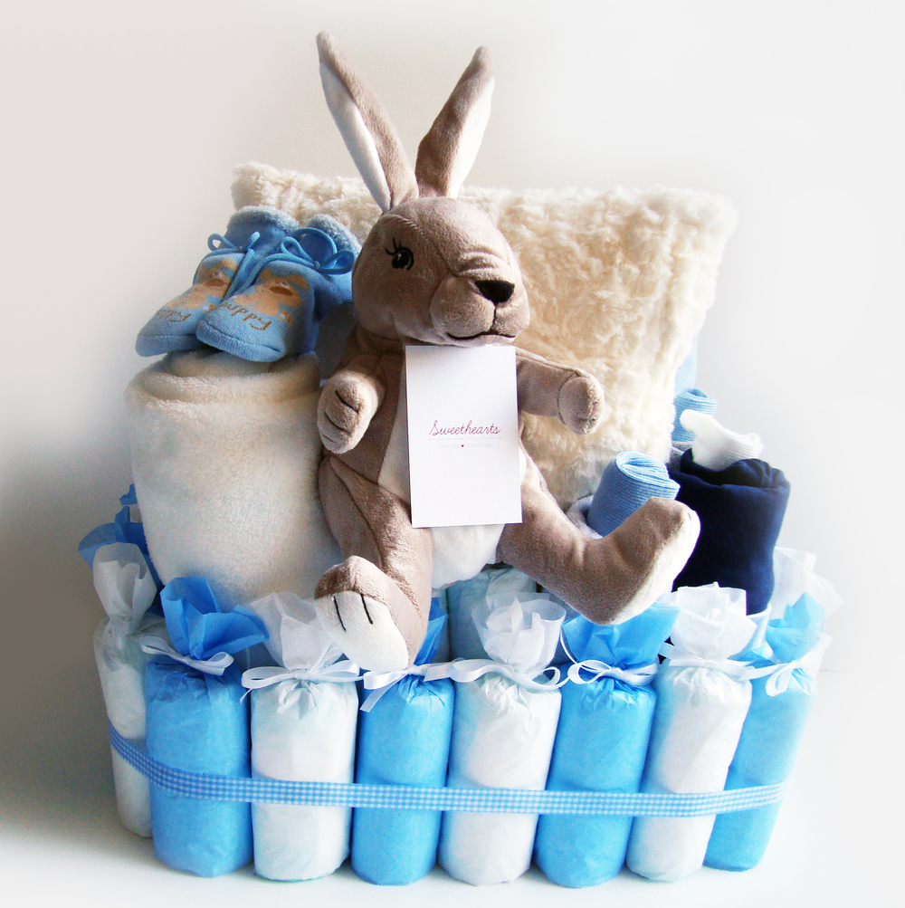 Happy Nappy Cake (Rabbit for a boy).jpg