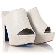 FRANCESCO MILANO-HANKA Ivory Heeled Sandals