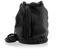 ELEANNA KATSIRA STACEY Black Drawstring Backpack