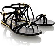 SANABELLA GENOVERA Black Crystal Sandals