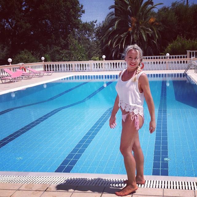 Vicky corfu pool.jpg