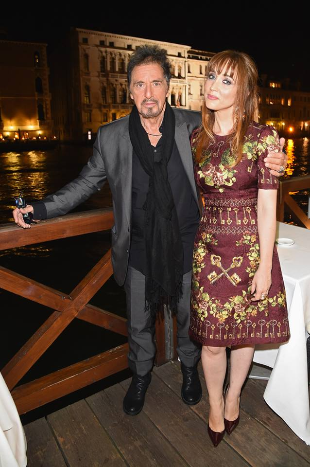 Al Pacino and Chiara Francini wearing Dolce&Gabbana to the Humbling - Mimmo Rotella Award.jpg