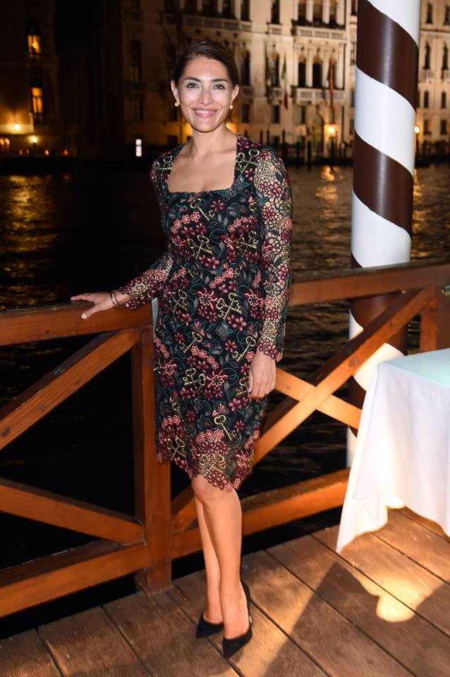 Caterina Murino wearing Dolce&Gabbana to the Humbling - Mimmo Rotella Award.jpg