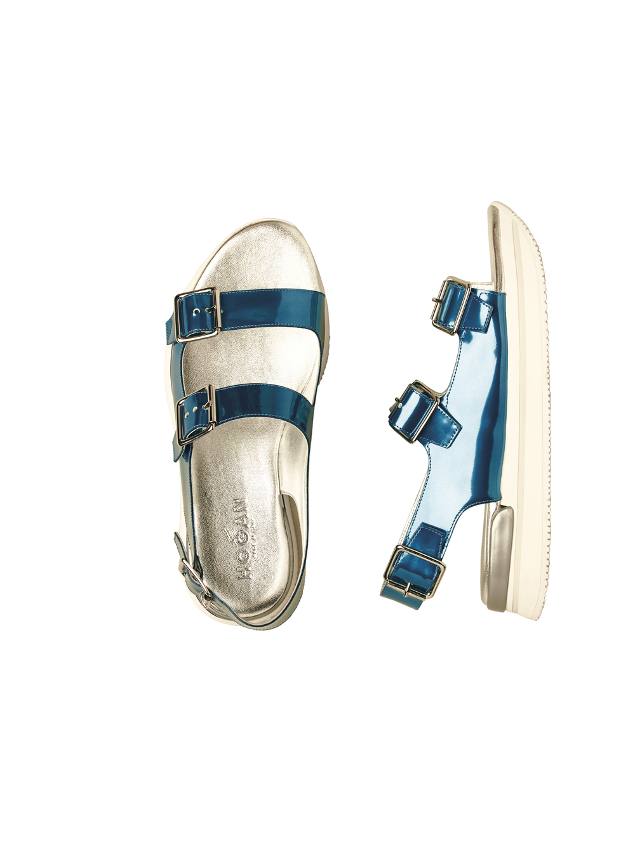 04-walking sandal in metallic blue leather.jpg