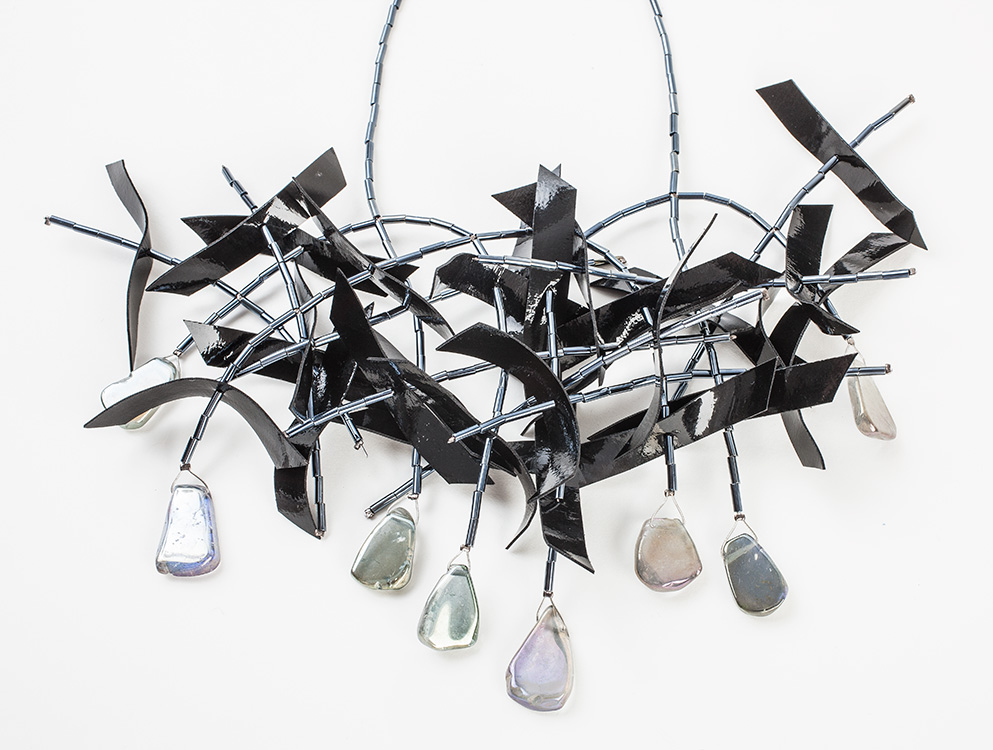 """""""Floating elements"""" Wild crystal mobile necklace"""