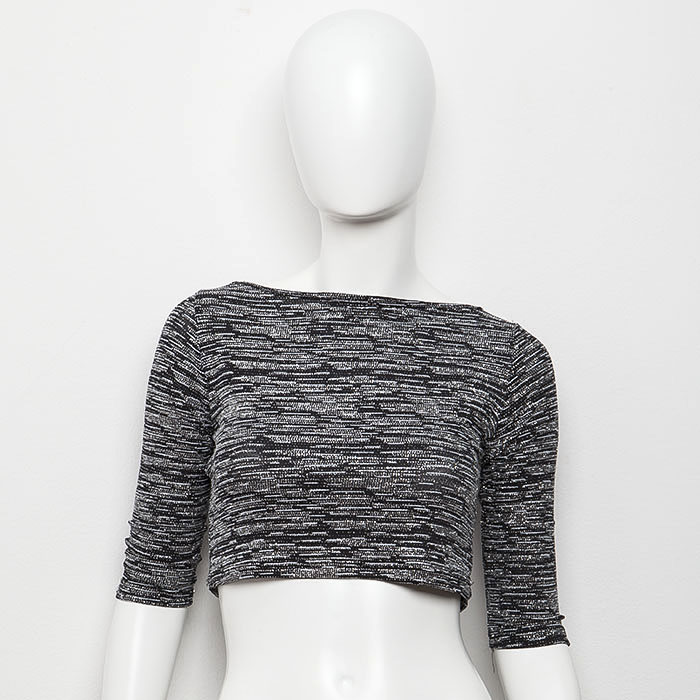 ''ALEXANDRA-IN WINTER XMAS COLLECTION'' CROP TOP B&W     ΑΠΟ 65,00Ε   ΤΩΡΑ 39,00E