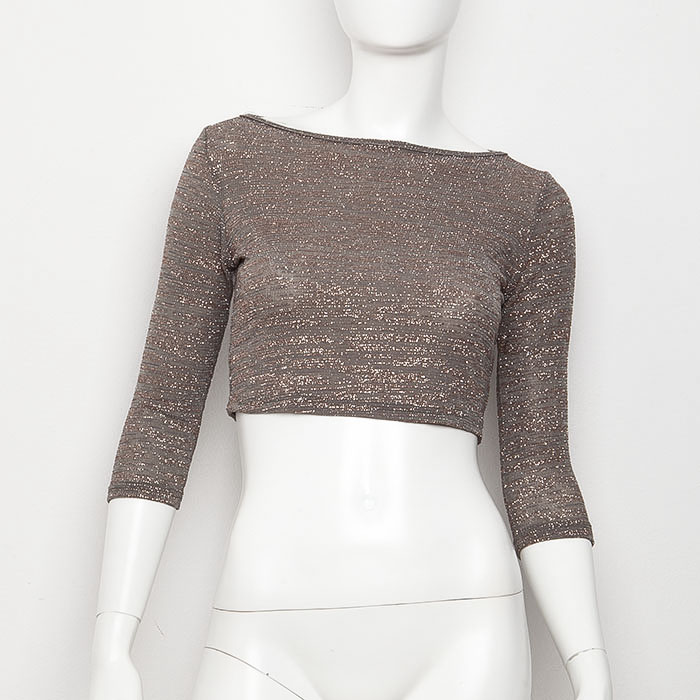 ''ALEXANDRA-IN WINTER XMAS COLLECTION'' CROP TOP ΜΠΕΖ ΑΠΟ 65,00Ε   ΤΩΡΑ 39,00E