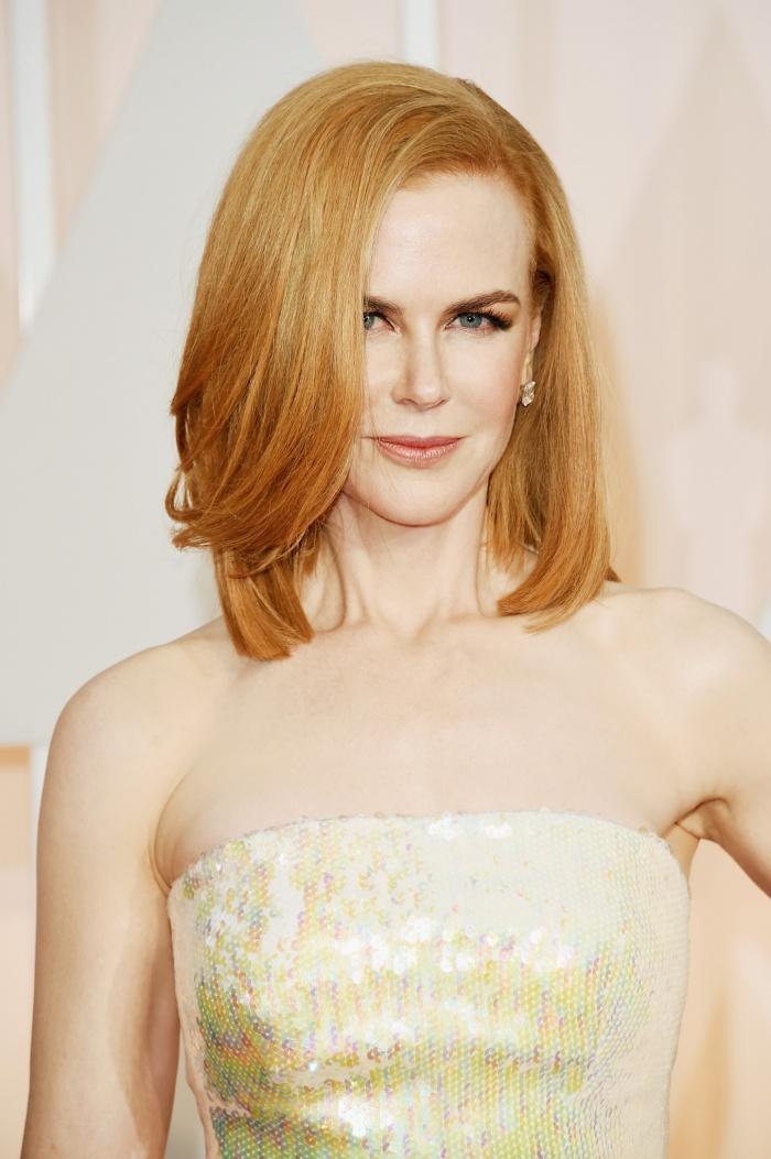 Nicole Kidman's sleek off-centre bob / Source:www.theguardian.com    Photograph: Jason Merritt/      Getty / Ethan Mille  r