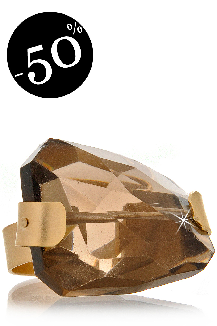 BY THE STONES SMOKEY Topaz Gold  Ring
