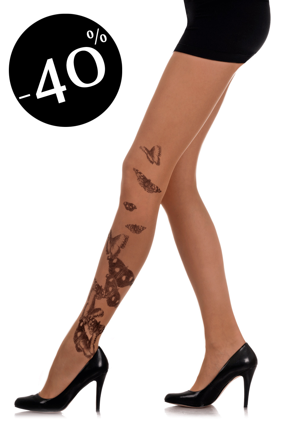 ZOHARA BUTTERFLIES Beige Tights