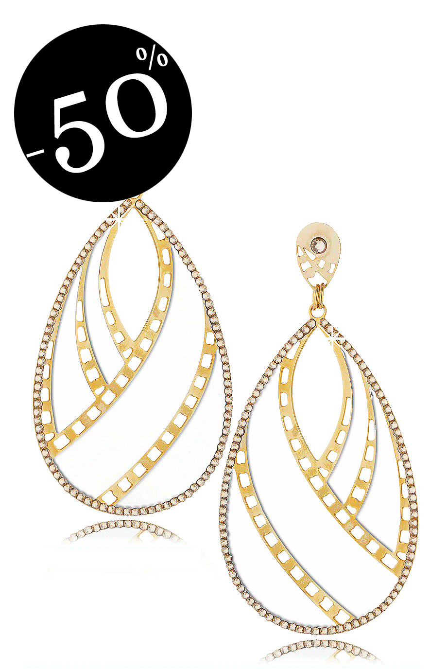 LK DESIGNS WILD White Crystal Drop Earrings