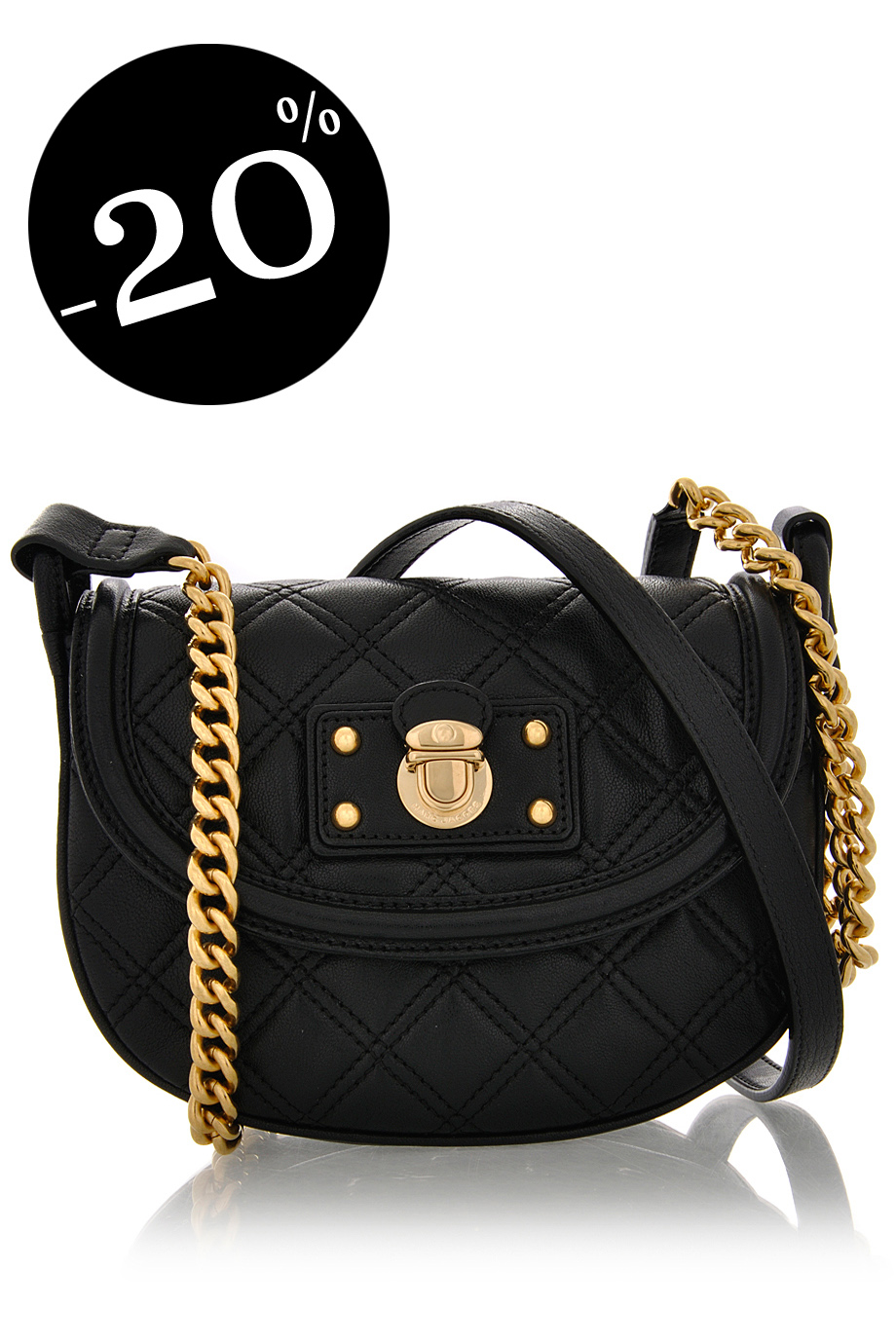 MARC JACOBS NOHO Quilting Black Bag