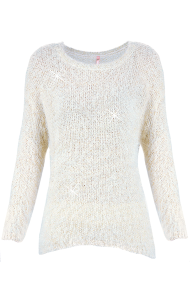 SWEEWË KUDDLES White  Fluffy Jumper
