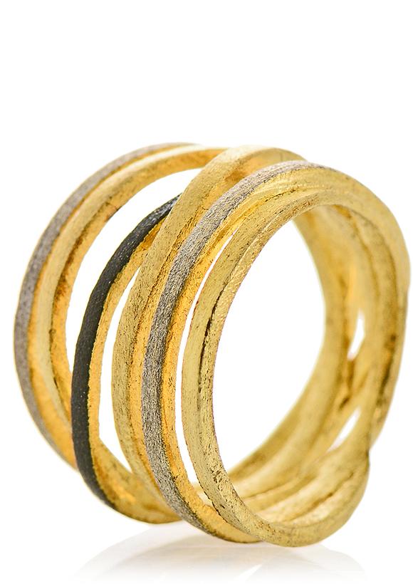 SARINA BERENIKE Gold Silver Ring