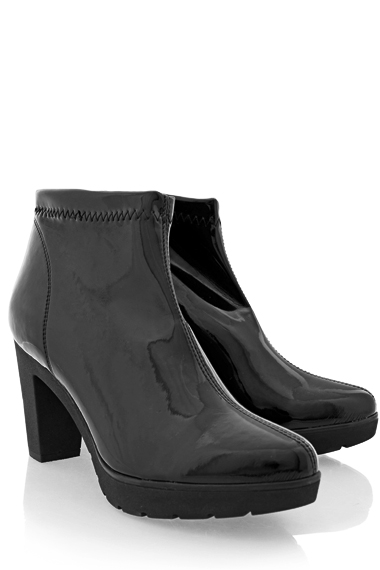STUDIO MARE JULIA Black Patent Leather Ankle Boots
