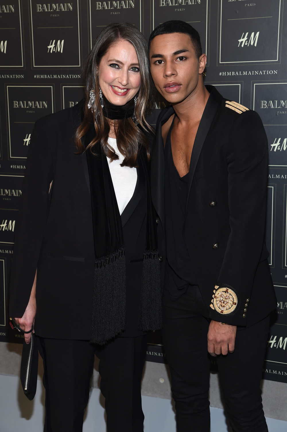 NEW YORK, NY - OCTOBER 20:  H&M Creative Advisor Ann-Sofie Johansson and Creative Director for Balmain, Olivier Rousteing attend the BALMAIN X H&M Collection Launch at 23 Wall Street on October 20, 2015 in New York City.  (Photo by Dimitrios Kambouris/Getty Images for H&M) *** Local Caption *** Olivier Rousteing;Ann Sofie Johansson