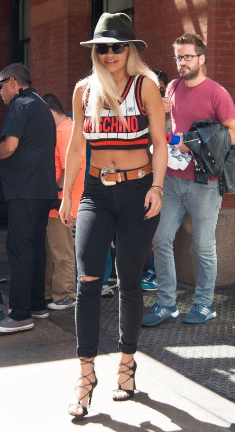 Rita Ora - Stuart Weitzman Legwrap.JPG