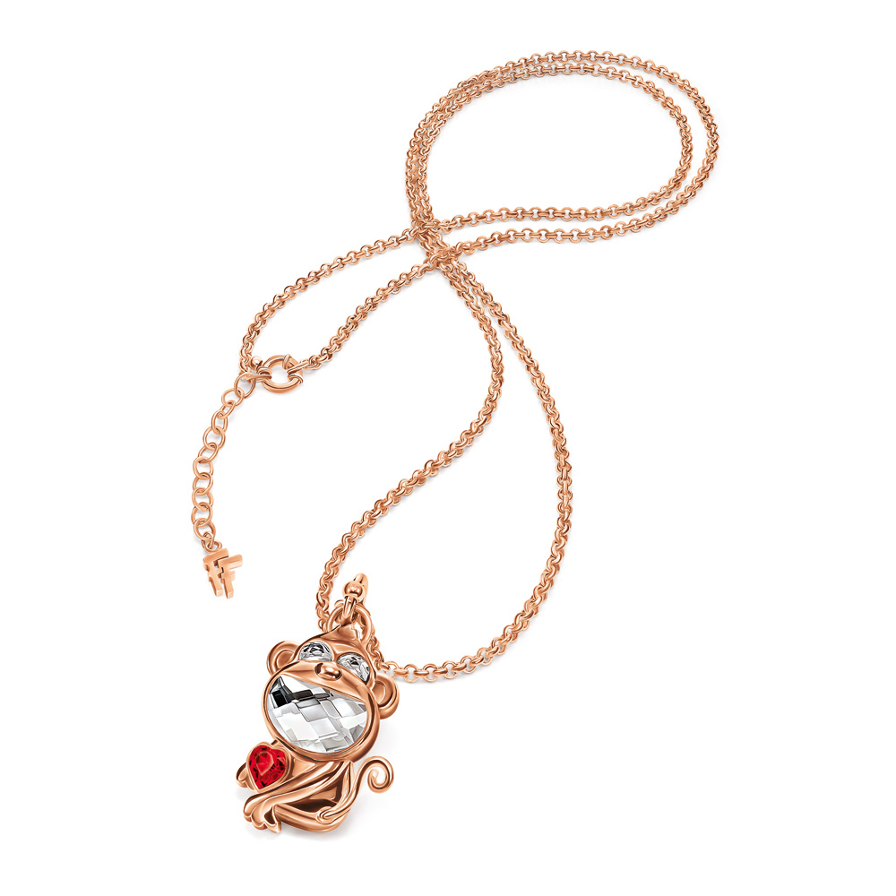 LUCKY MONKEY NECKLACE ΓΟΥΡΙ 2016 FOLLI FOLLIE