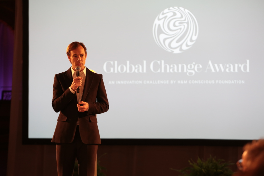 Welcome remarks by Karl-Johan Persson board member of H&M Conscious Foundation and CEO of H&M at the Global Change Award 2015.JPG