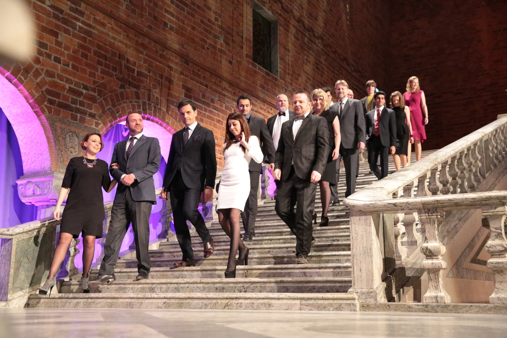 Global Change Award Winners 2015 entering the Blue Hall_2.JPG
