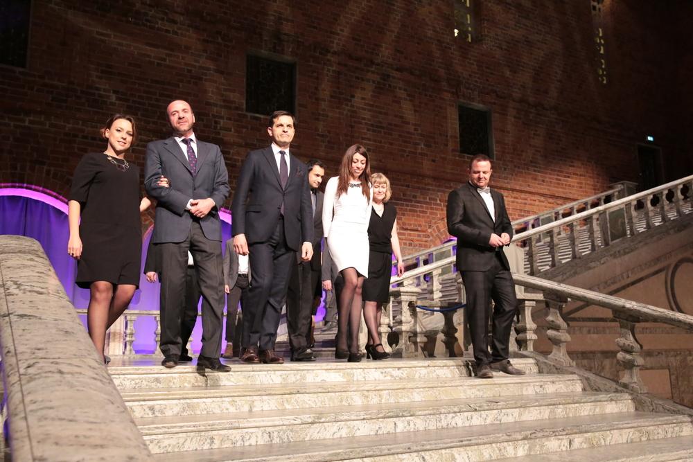 Global Change Award Winners 2015 entering the Blue Hall_3.JPG