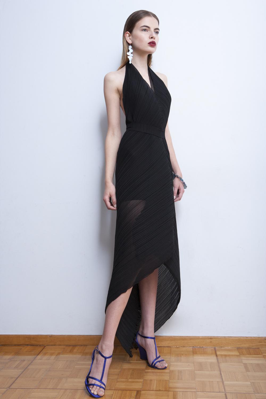 Asymmetrical, backless, pleated dress (2).JPG