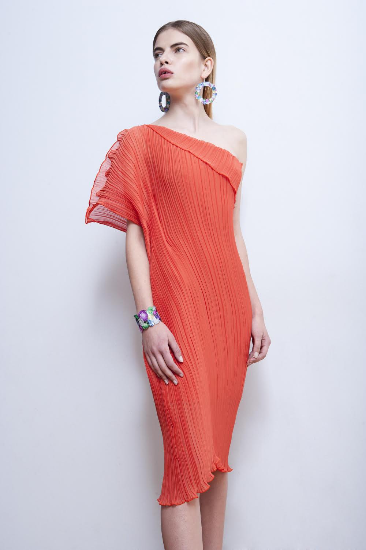 One shoulder pleated dress.jpg