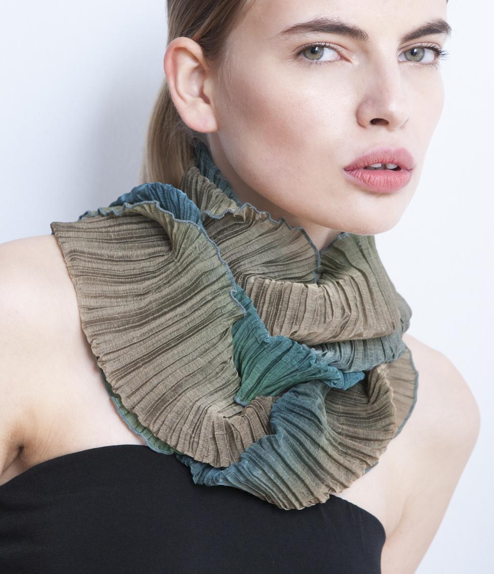 Sculptural pleated scarf.JPG