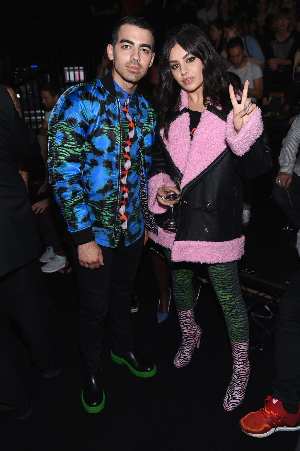 NEW YORK, NY - OCTOBER 19:  Joe Jonas and Charli XCX attend KENZO x H&M Launch Event Directed By Jean-Paul Goude'  at Pier 36 on October 19, 2016 in New York City.  (Photo by Dimitrios Kambouris/Getty Images for H&M)