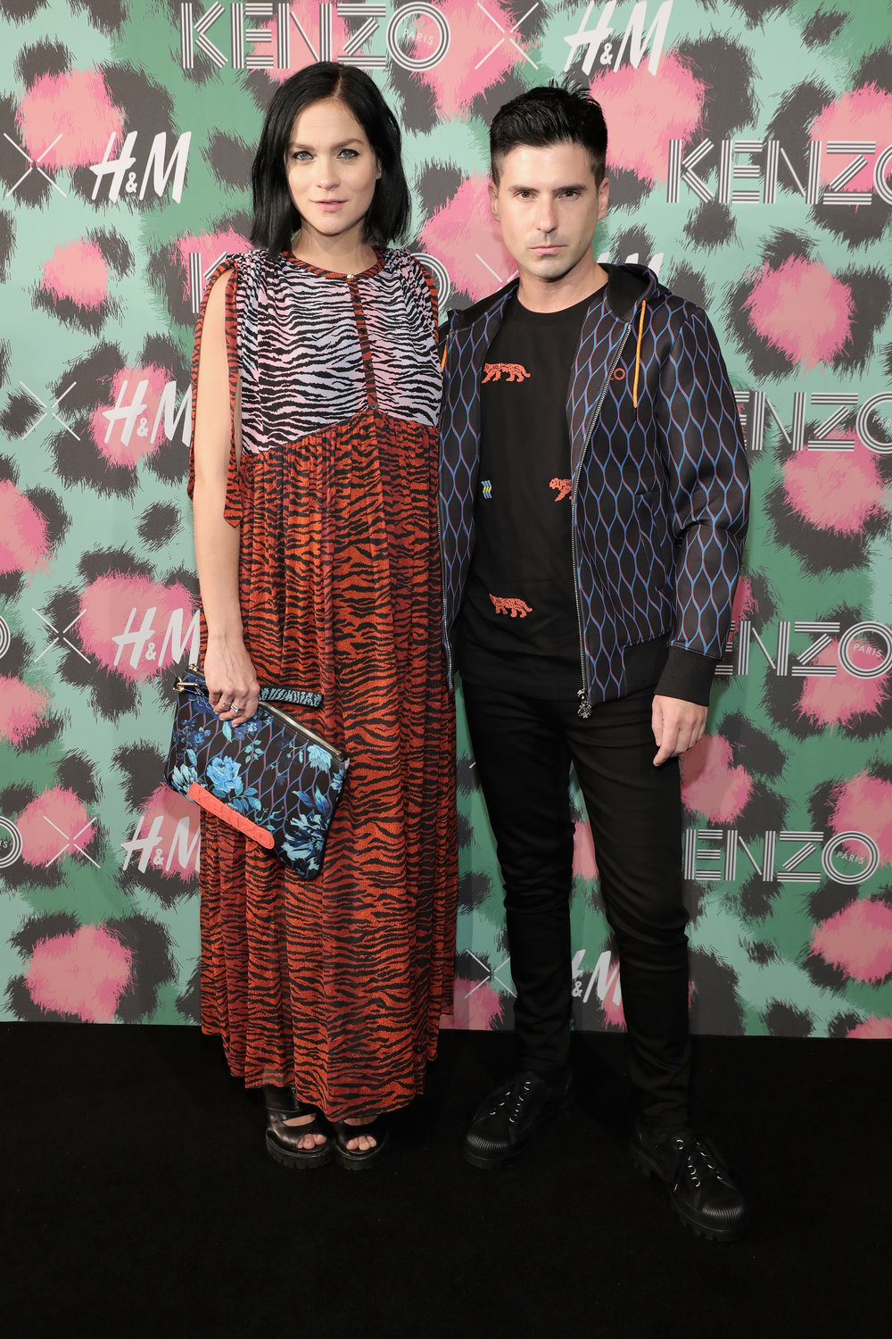 NEW YORK, NY - OCTOBER 19:  Leigh Lezark and Geordon Nicol attend KENZO x H&M Launch Event Directed By Jean-Paul Goude'  at Pier 36 on October 19, 2016 in New York City.  (Photo by Neilson Barnard/Getty Images for H&M)