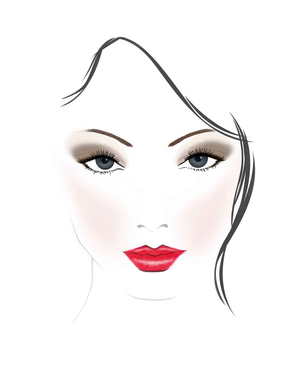 Light Up Lip Gloss Bad Girl Look face chart