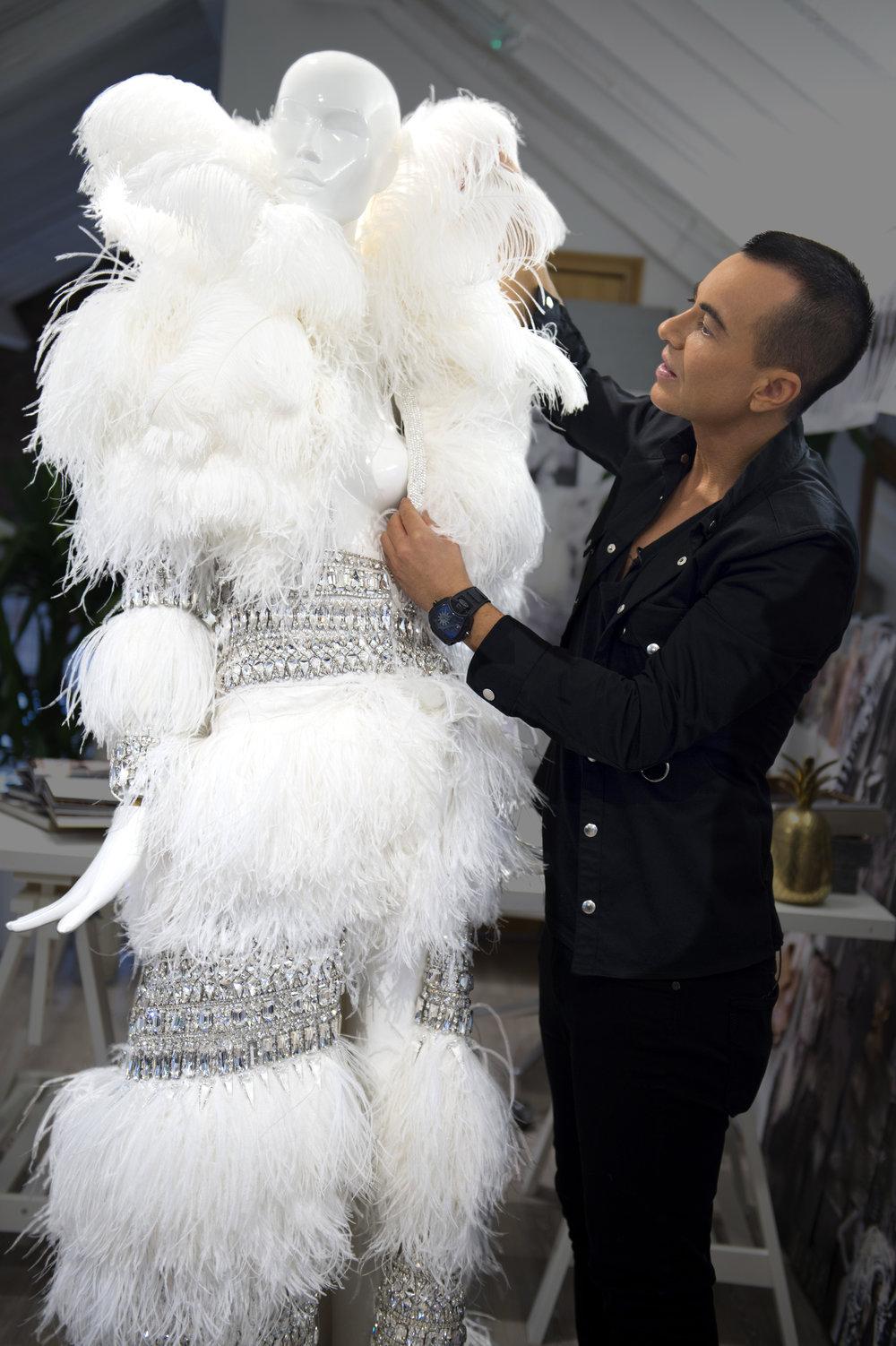 Julien Macdonald coat designed using Swarovski Crystal for Jennifer Lopez's 'All I Have' Las Vegas Residency, 2017 (7).jpg