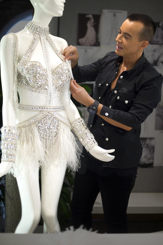 Julien Macdonald mini dress designed using Swarovski Crystal for Jennifer Lopez's 'All I Have' Las Vegas Residency, 2017 (1).jpg