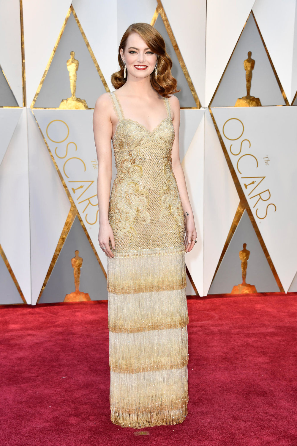 Emma Stone in Givenchy gown (Getty images)