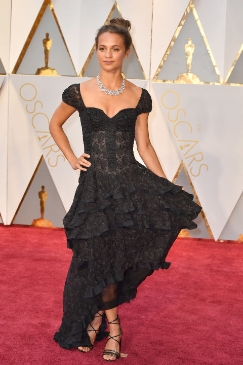 Alicia Vikander in Louis Vuitton gown (Getty images)