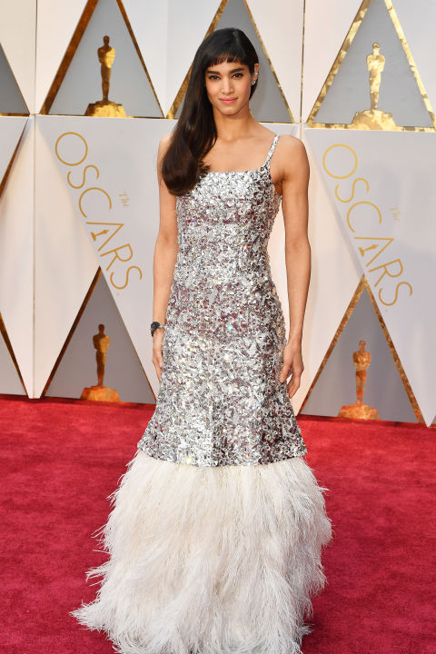 Sofia Boutella in Chanel gown (Getty images)