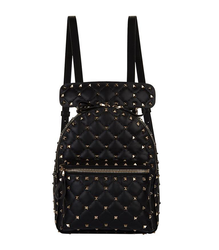 Valentino Garavani  - Mini Leather Rockstud Spike Backpack