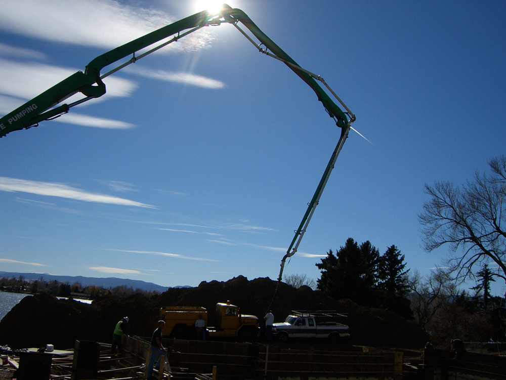 concrete pump for foundation walls