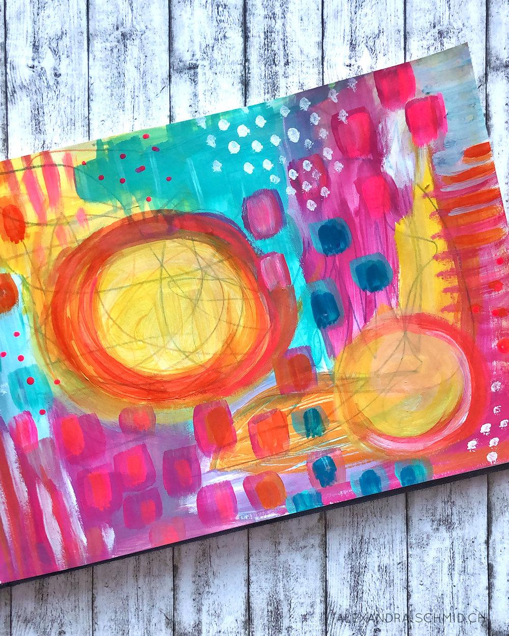 """""""Art Is Not Optional"""" Abstract Alexandra Schmid"""