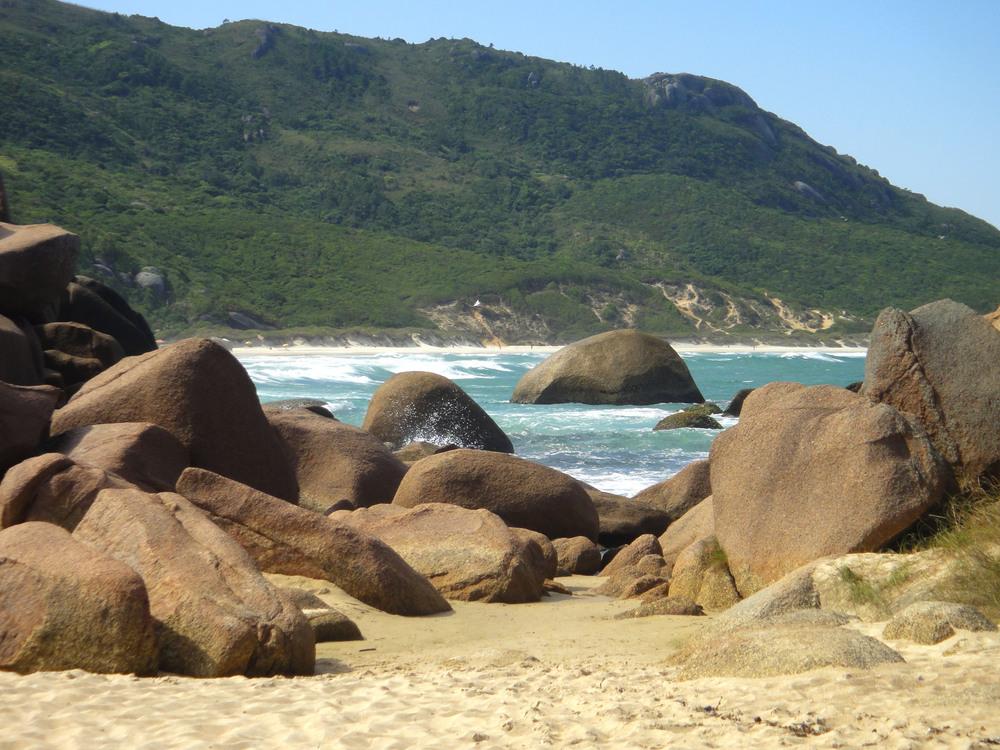 Trilha para a Praia da Galheta