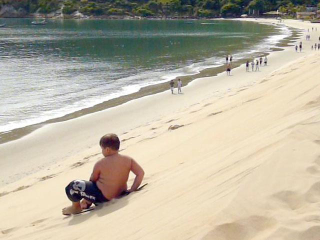Sandboard nas dunas dos Ingleses