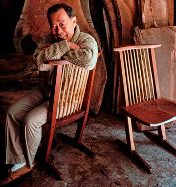 George Nakashima – uma das principais influências do Xilocoletivo para esta série em exposição.